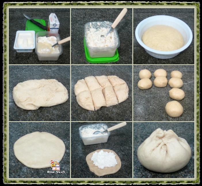 Pão recheado com queijo cremoso 10