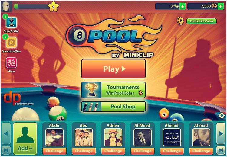 عالم الويب: تطويل السهم في لعبة 8ball pool للكمبيوتر