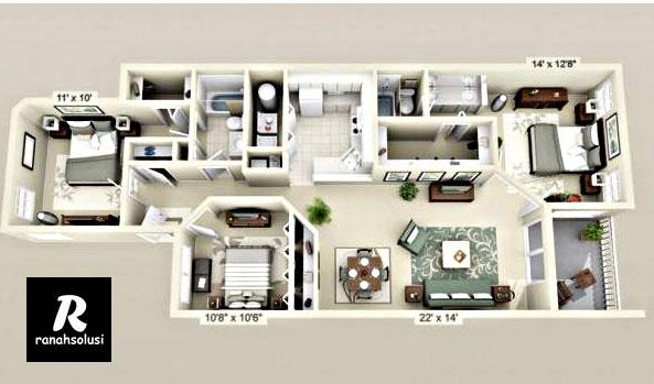 Model Desain Rumah Minimalis 3 Kamar Terbaru 2019