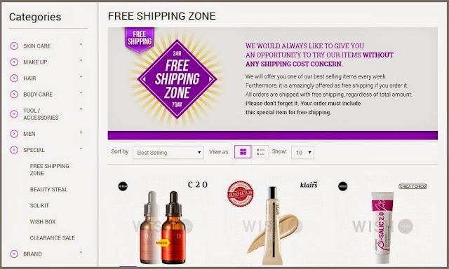 Wishtrend Cosmetics Website Review