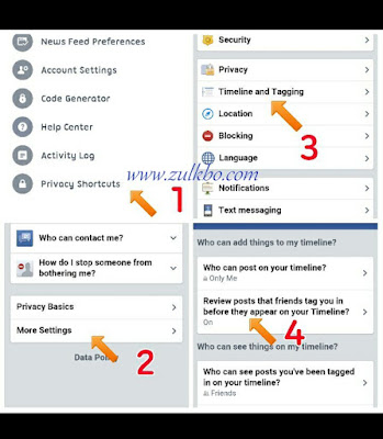 Cara Mudah Setting Privacy Tagging Timeline Aplikasi Facebook Di Android Phone