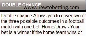 double chance betting type explained