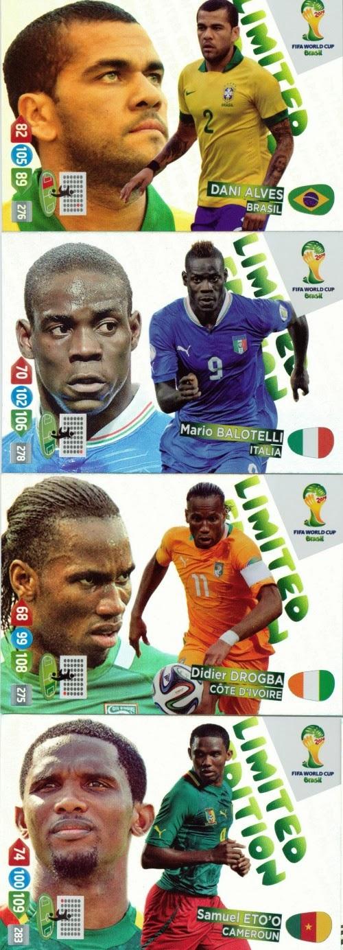 Panini Adrenalyn WM 2014 brasil-wilson palacios Limited Edition Mega rar