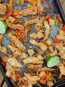 sheet pan pineapple chicken fajitas (sweetandsavoryfood.com)