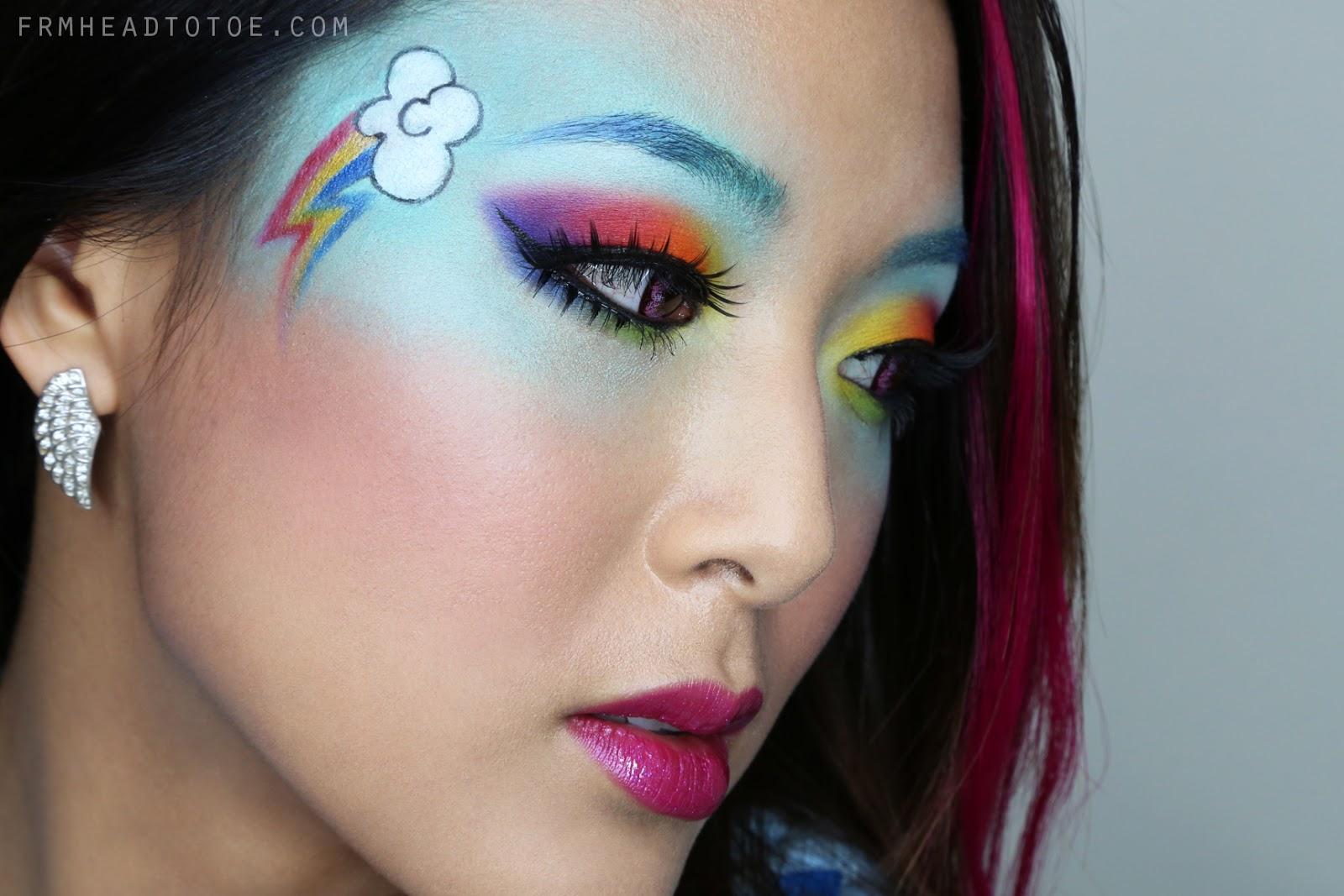 My Little Ponies Quot Rainbow Dash Quot Makeup Tutorial From
