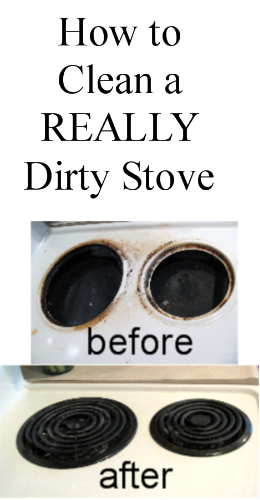 Proverbs 31 woman how to clean a really dirty stove top How to clean top of oven
