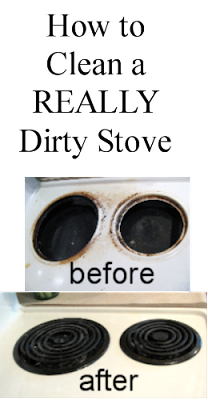 How to Clean a Really Dirty Stove Top