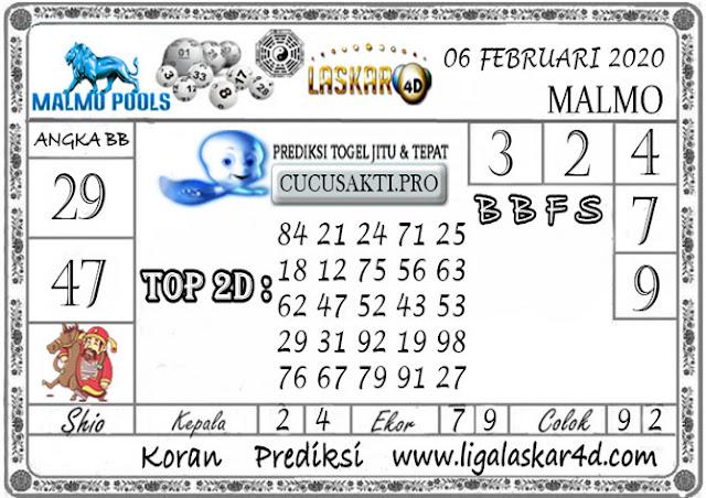 Prediksi Togel MALMO LASKAR4D 06 FEBRUARI 2020