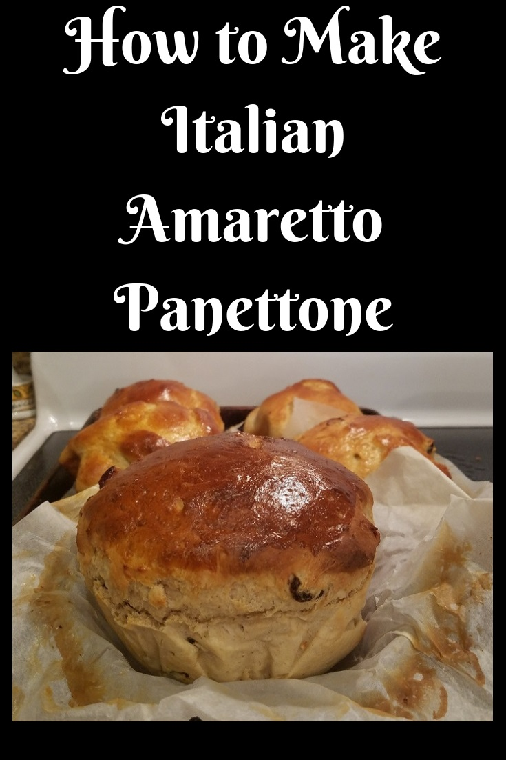 This is a recipe on how to make panettone for Christmas holiday with Amaretto flavoring instead of the original recipe using any kind of baking pan you have