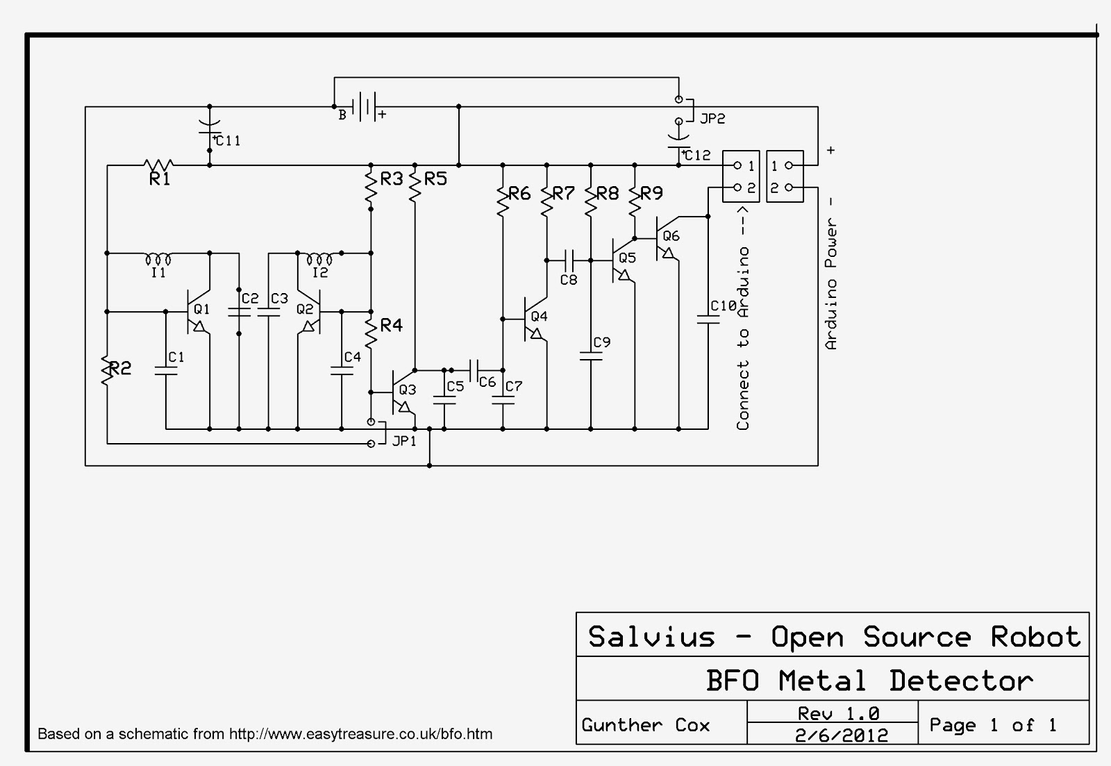 Build A Simple Robotic Metal Detector Part Three Power Circuit Click On This Image To View It Larger