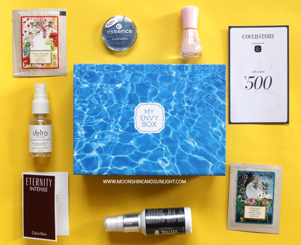 June 2017 My Envy Box Review , Bangalore beauty blogger