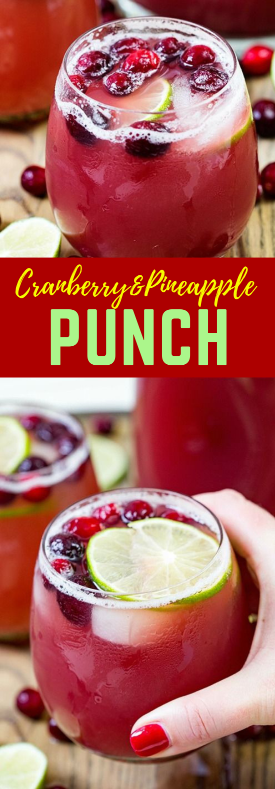CRANBERRY PINEAPPLE PUNCH #Drink #Punch