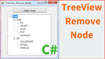 Delete TreeView Node Using C#