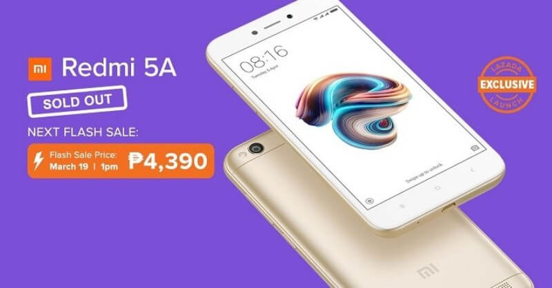 Lazada to Hold another Flash Sale for the Xiaomi Redmi 5A on March 19