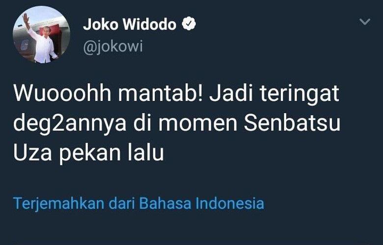 admin twitter Jokowi dipecat