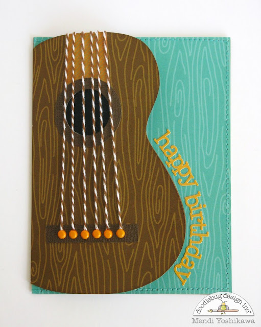 Doodlebug Design Inc. Guitar Masculine Birthday Card by Mendi Yoshikawa
