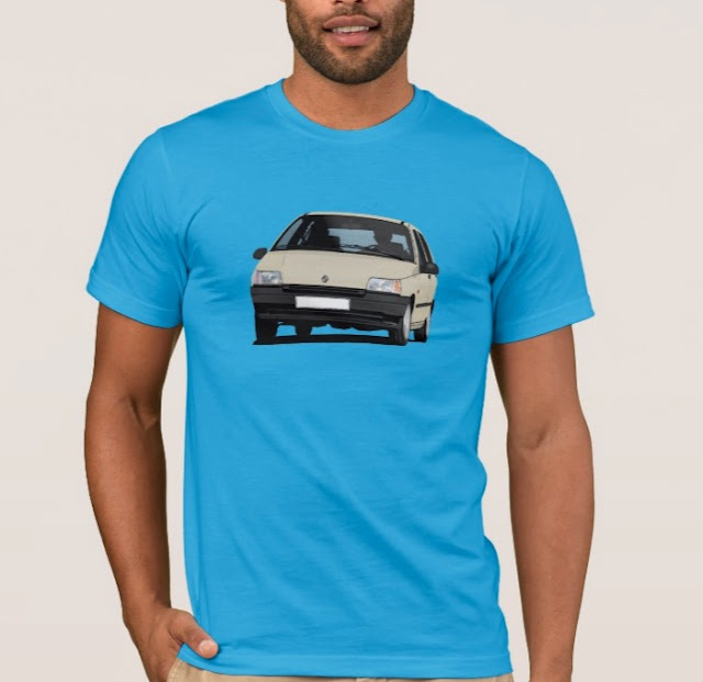 Zazzle Renault Clio t-shirts and apparel
