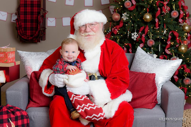 6 month old baby with Santa in Albuquerque