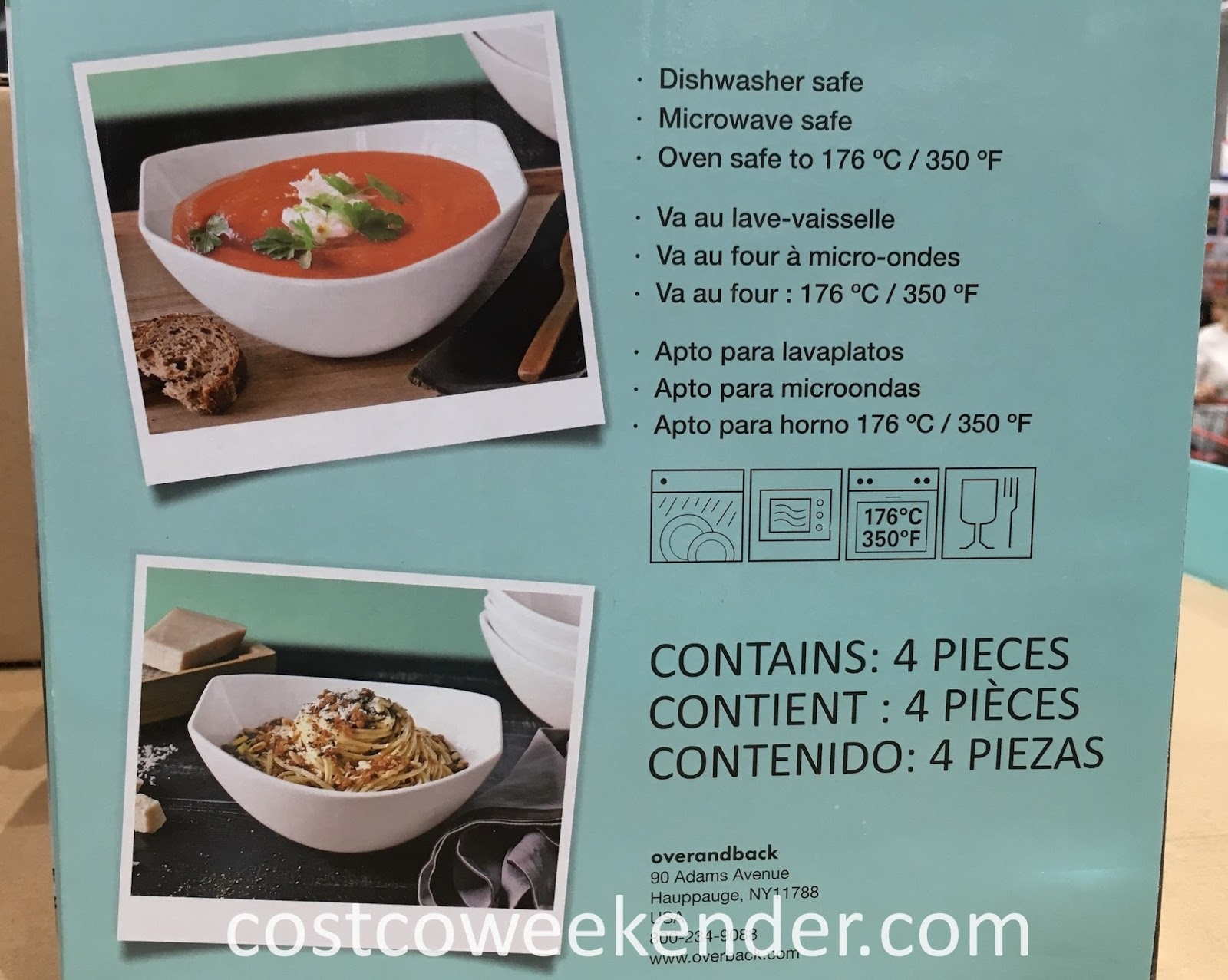 Costco 1040003 - overandback Porcelain Serving Bowls: practical and elegant