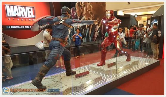 Pertempuran Captain America v Iron Man Di Sunway Pyramid