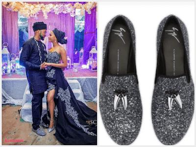 "Banky W's wedding shoe ""Giuseppe Zanotti "" cost about N290k (Photos)"