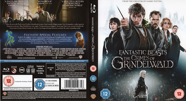 Fantastic Beasts: The Crimes of Grindelwald Bluray Bluray Cover
