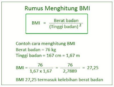 atau indeks massa tubuh yakni angka yang menyatakan perbandingan berat tubuh  Apa Itu Body Mass Index (BMI) ?