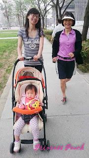 跟外婆散步