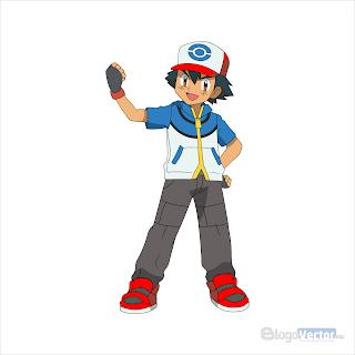Ash Pokemon Logo vector (.cdr)
