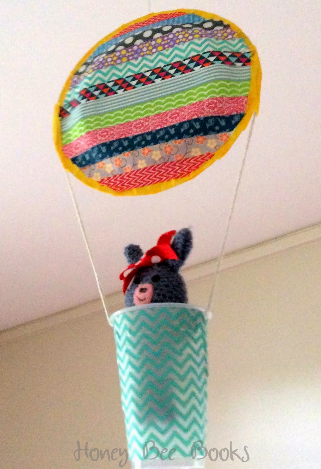 Paper Plate Hot Air Balloon decorated with Washi tape