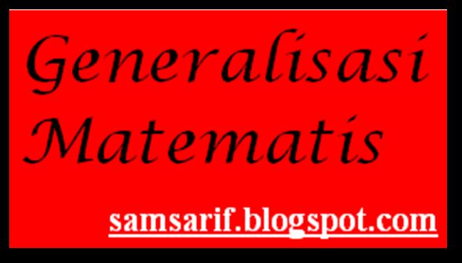 Geosamsedu Kemampuan Generalisasi Matematis