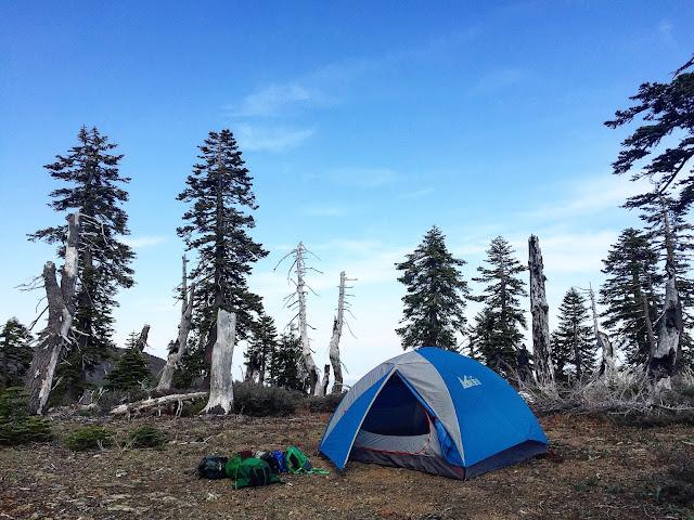 Campsite on Snow Mountain