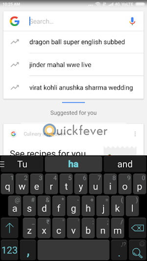 How to clear android keyboard history and predictive text