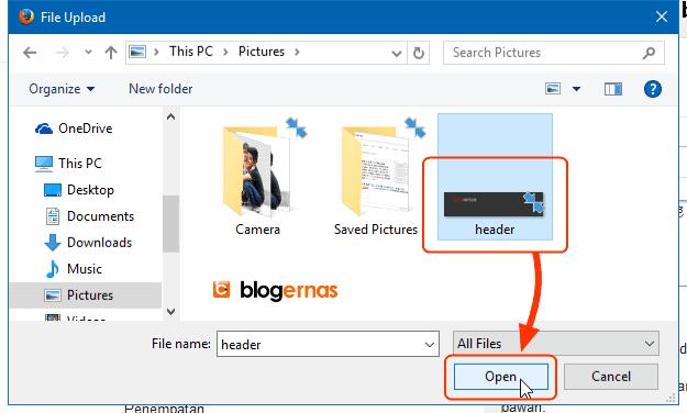 Cara Memasang & Mengganti Gambar Header Blog