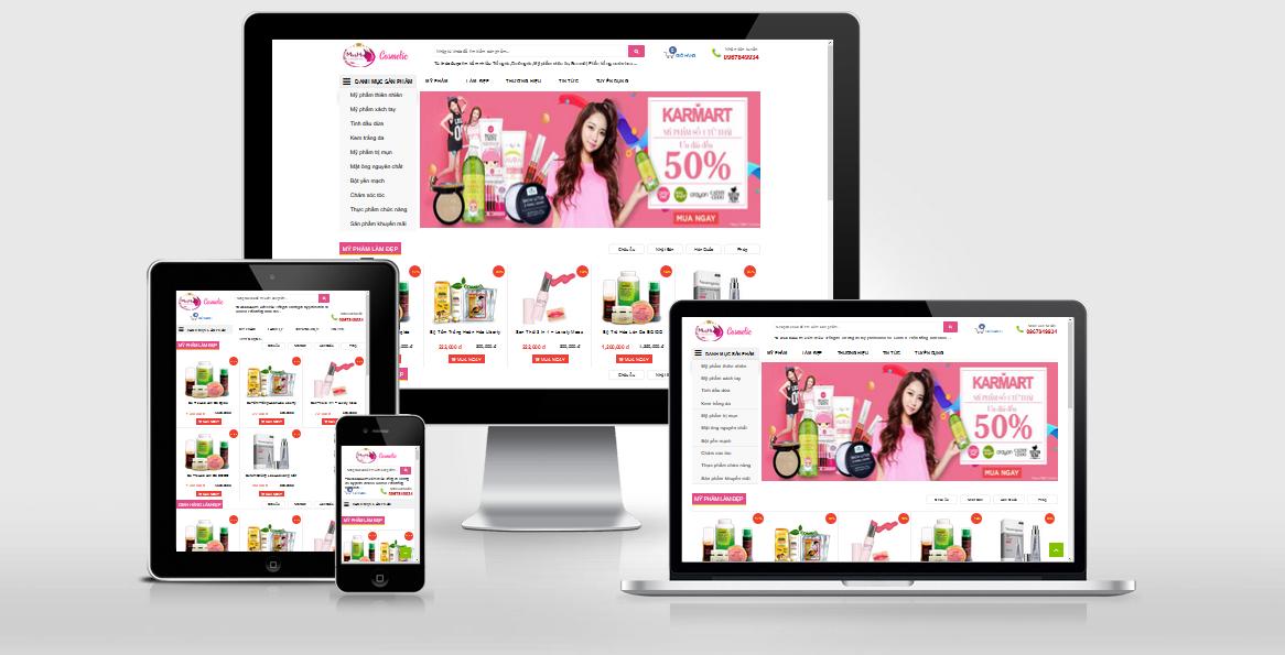Template blogspot bán hàng mỹ phẩm Minh Hằng Style 2