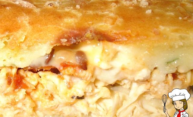 Torta de frango com massa maravilhosa. Passo a passo no Blog Receitas da Bebel