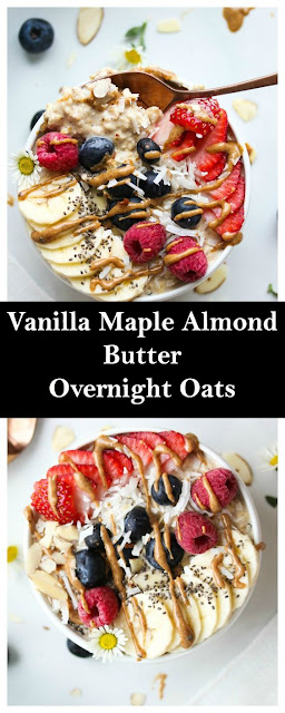 Vanilla Maple Almond Butter Overnight Oats Recipes