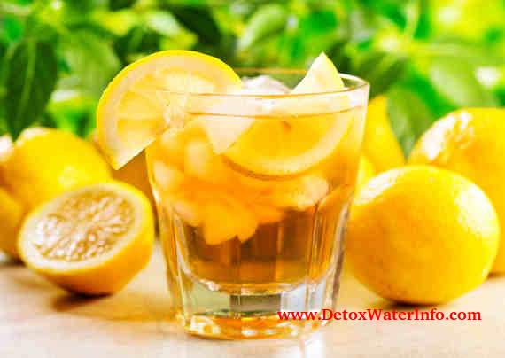 Detox with lemon water diet