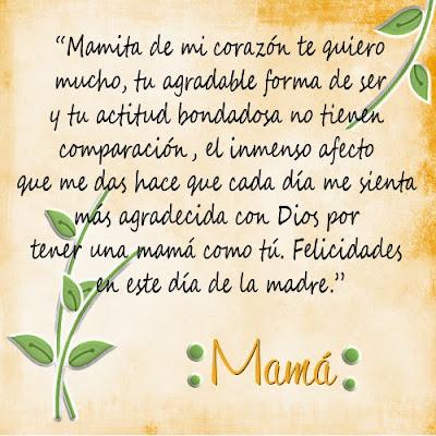 Mensajes para dedicar el dia de la madre