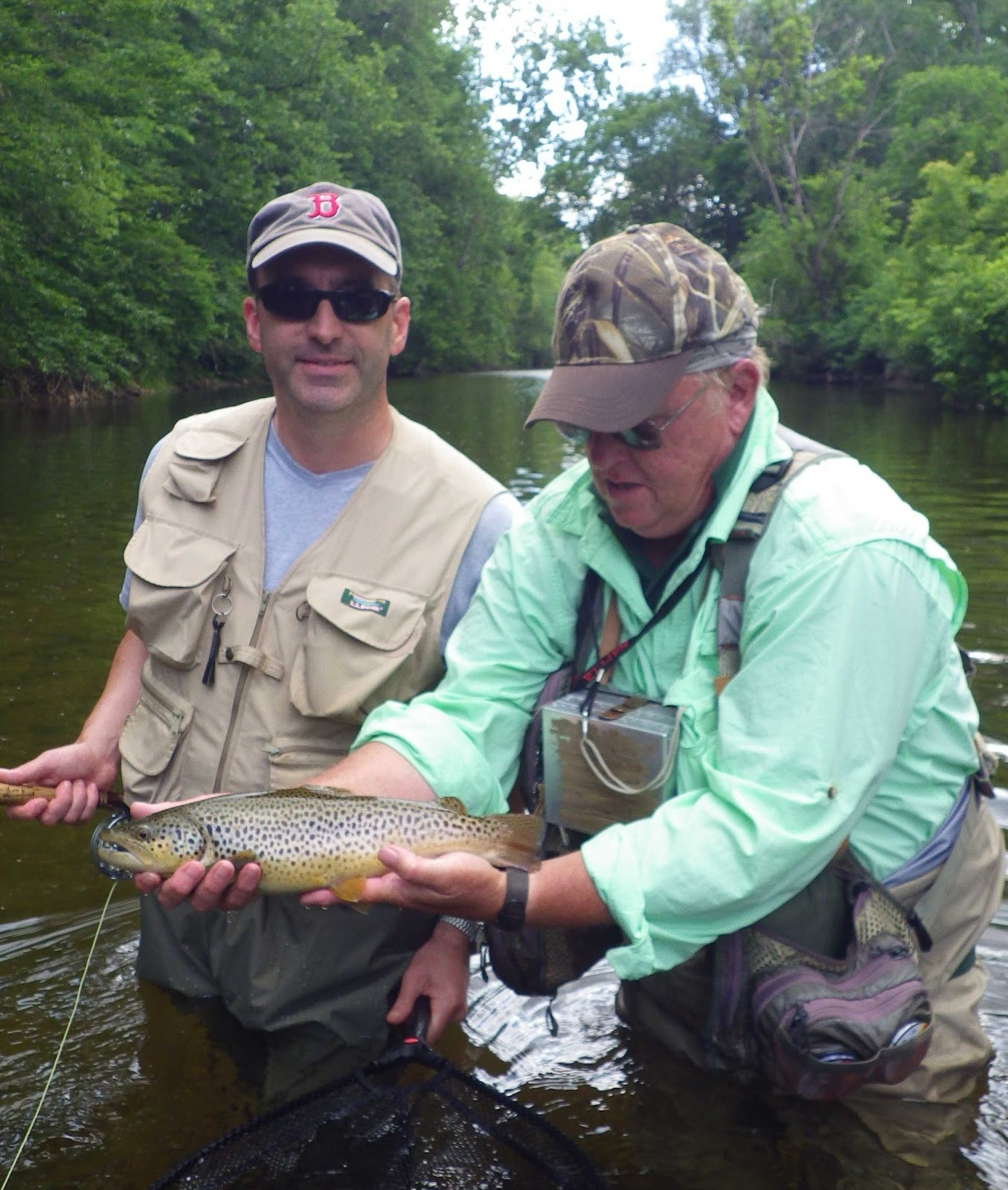 Vermont fly fishing father son trip fly fishing in for Vermont fishing report