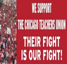 "@CTULocal1 members march for ""student needs, not corporate greed!"