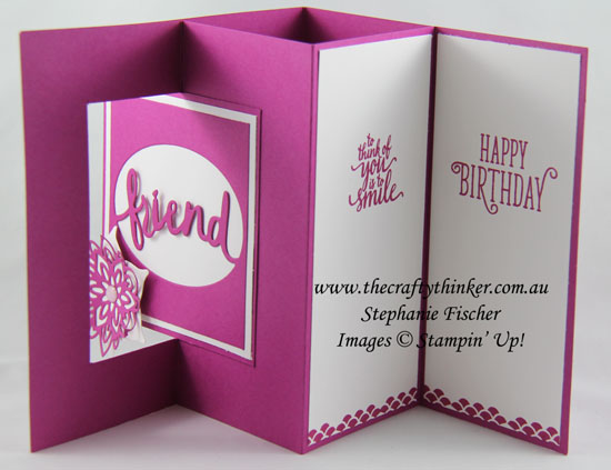 Fun Fold, Sneak Peek Annual Catalogue, Lovely Words, Lever Card, #thecraftythinker, Stampin Up Australia Demonstrator, Stephanie Fischer, Sydney NSW