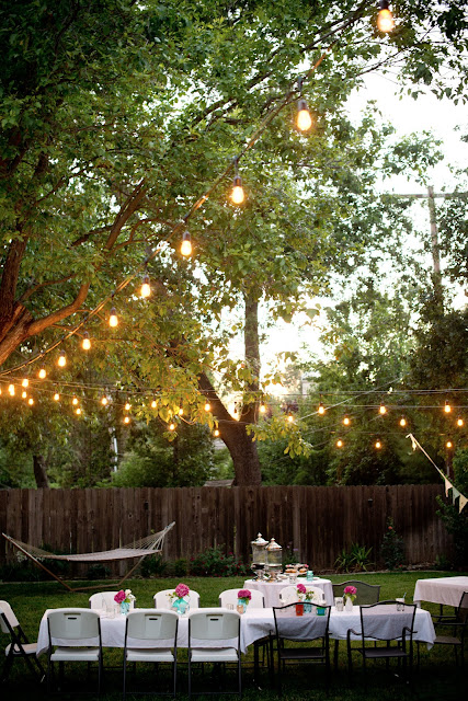 backyard party lighting
