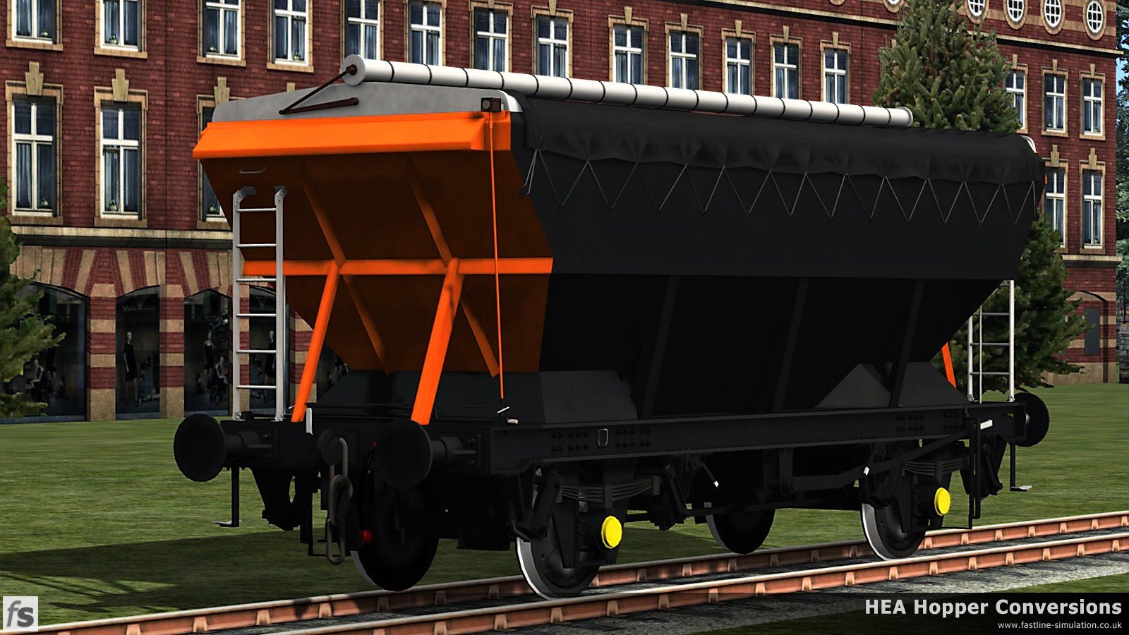 Fastline Simulation - HEA Conversions: A freshly converted CEA hopper is seen in Loadhaul livery, fresh from the paint shop before any of the lettering has been applied.