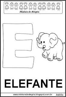 Alfabeto cartaz letra E