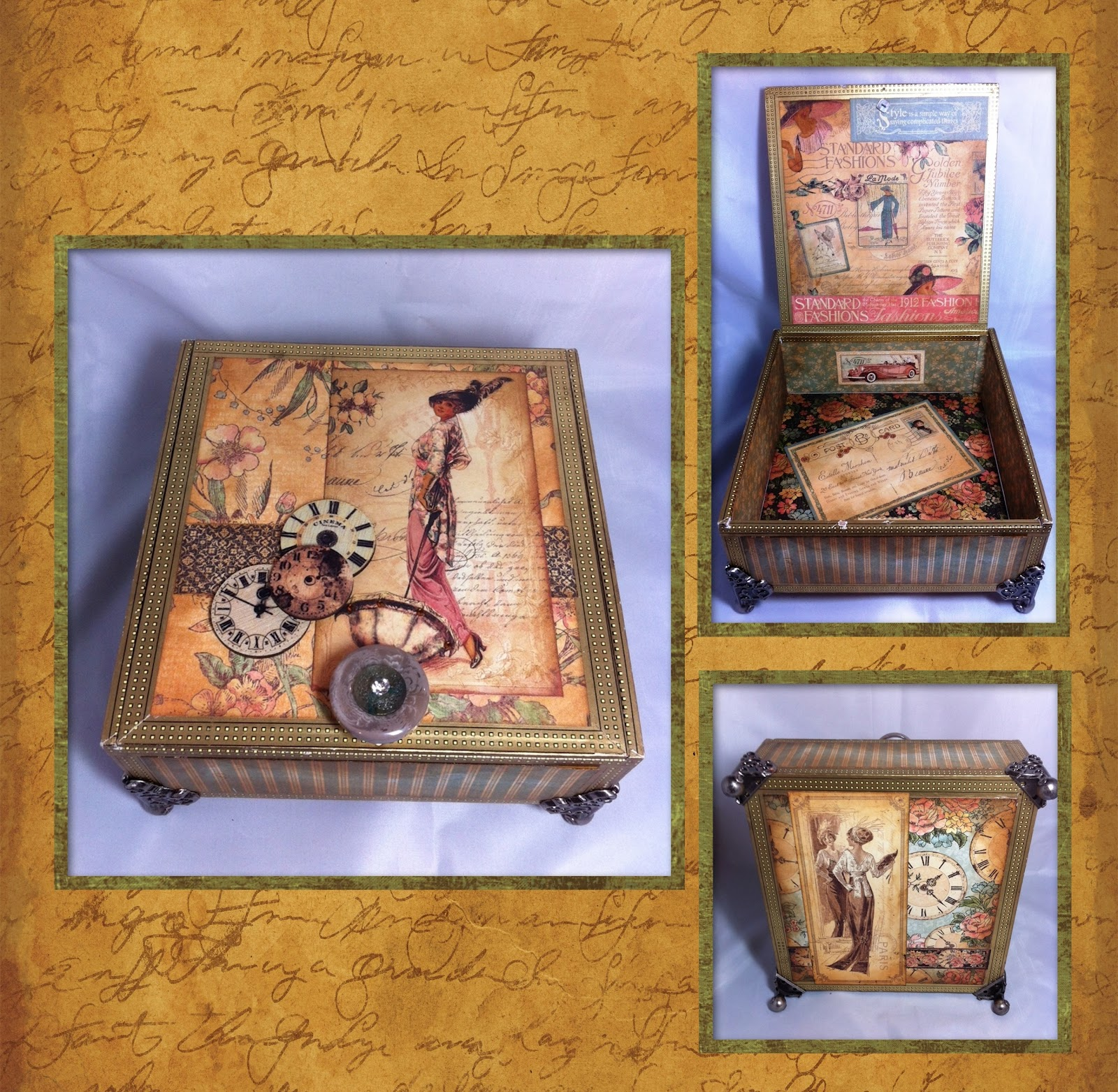 Another altered art project creative lady for Cardboard cigar box crafts