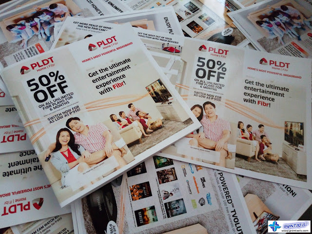 Folded Brochures - PLDT Home Fibr