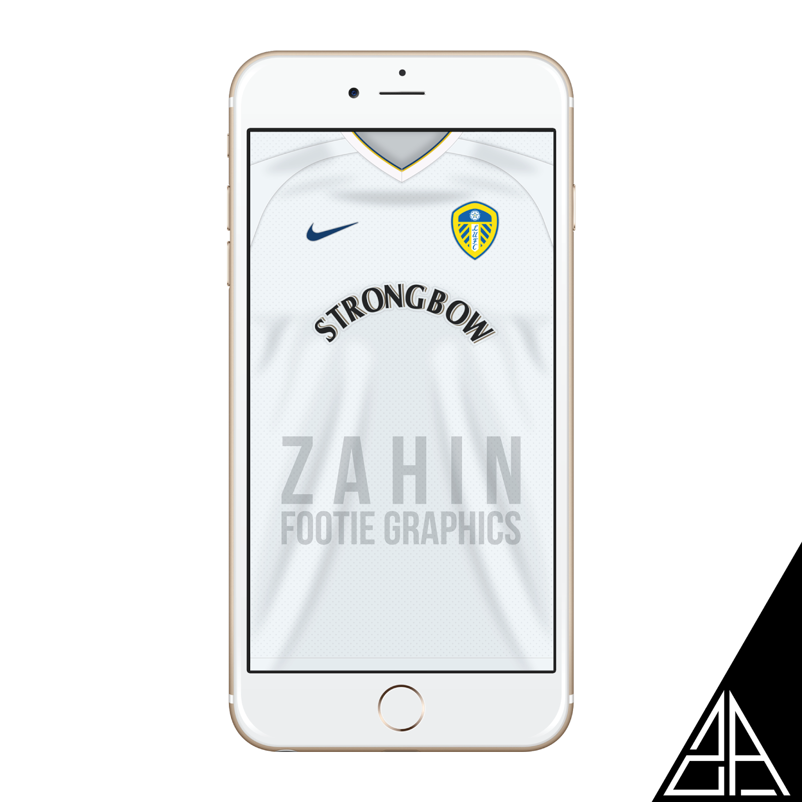 0e3975f9c Leeds United home kit 2000 02 wallpaper for your iPhone   Android.