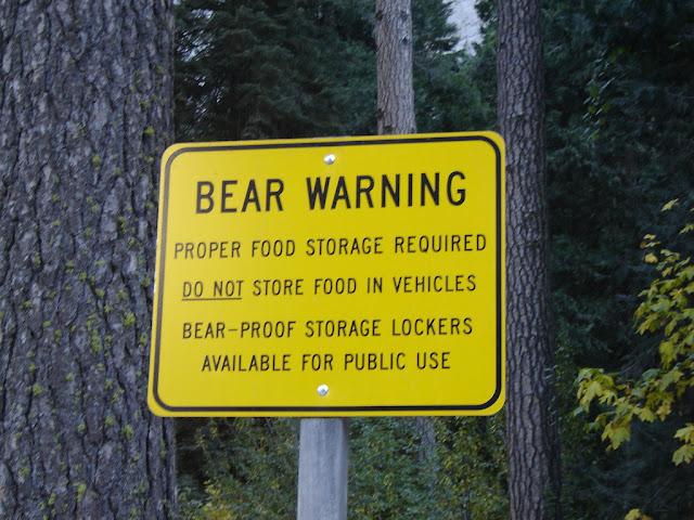 Simpatico segnale presente nei parchi americani