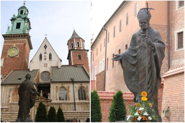 Catedral de Wavel – Estatua a Juan Pablo II en Cracovia